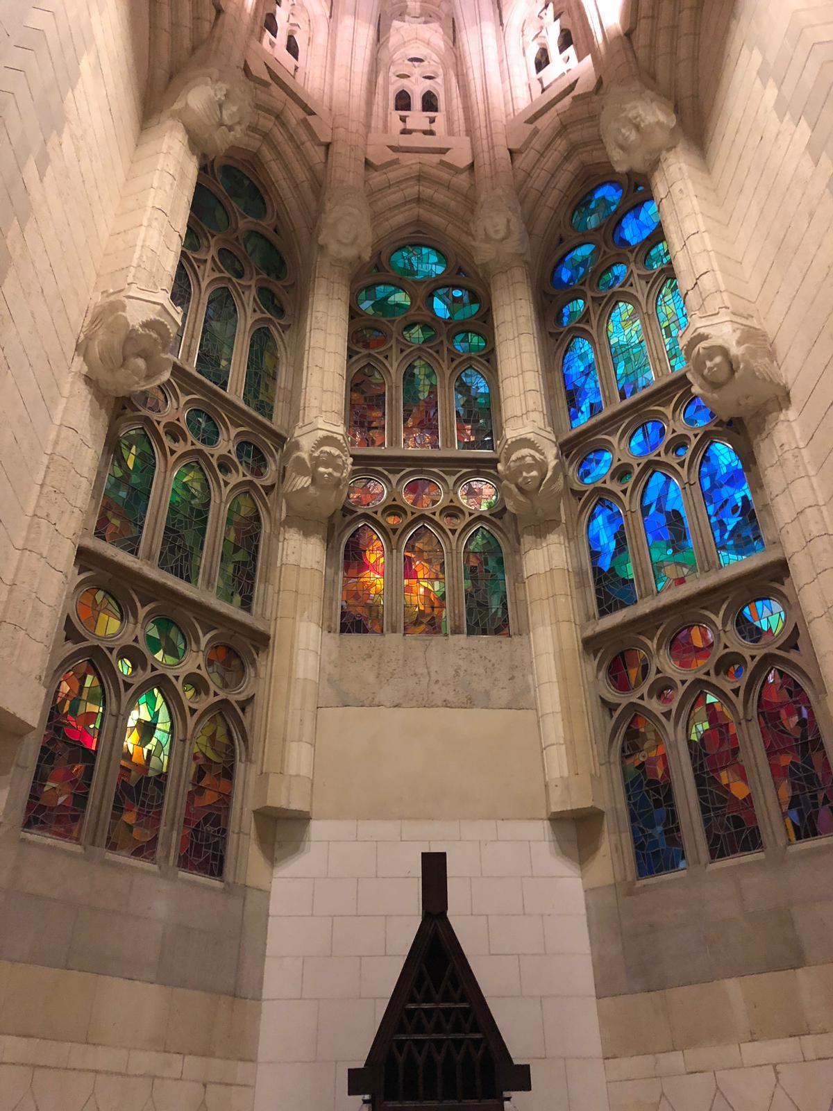 Stained glass windows- La Sagarda Familia